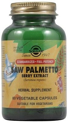 Solgar Standardized Full Potency Saw Palmetto Berry Extract 60 Vegetable Caps Berry Extract Vegetable Capsules