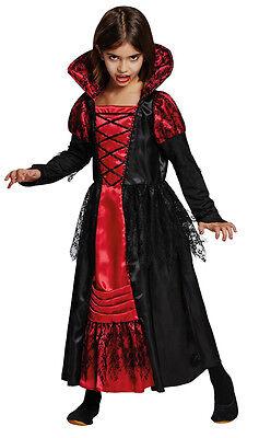 Kleine Vampir Lady Kinderkostüm NEU - Mädchen Karneval Fasching Verkleidung Kost ()