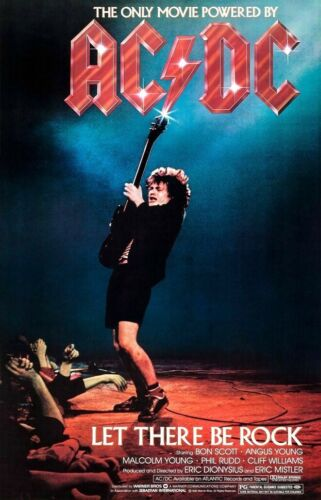 "AC/DC Band 24 x 38 ""LET THERE BE ROCK"" Reproduction movie Poster"