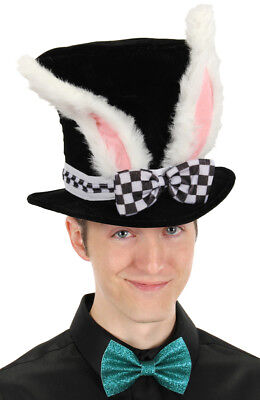 Adult White Rabbit Topper Hat by - Alice In Wonderland White Rabbit Costume