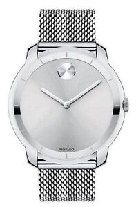 Movado Bold Mesh 44mm Men s Stainless Steel Watch 3600260 for sale ... fabf0da83403