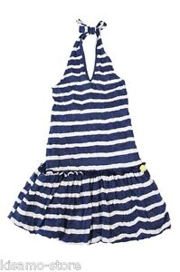 CARBONE Sommer 2013 BALLON-KLEID Neckholder DRESS stripes Gr.152/ 12 years