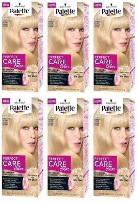Schwarzkopf Palette Pearly Blonde 120 Perfect Care Colour With Silk Elixir X6