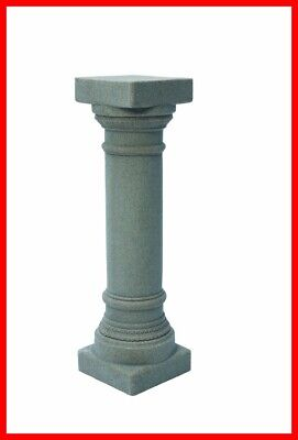 Greek Column Decorations (Gray Greek Column Statue Pedestal Pillar Outdoor Garden Lawn Yard Decor)
