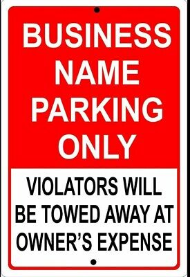 Personalized Business Parking Sign Aluminum No Rust Custom Metal Sign 8 X 12.