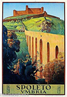 1927 Spoleto Umbria Italy Rome Italian Art Travel Advertisement Poster Print