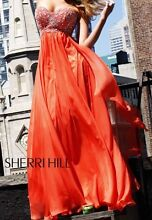 Beautiful Soft Chiffon Formal/Ball Dress Sherri Hill Coral/Orange Bowen Hills Brisbane North East Preview