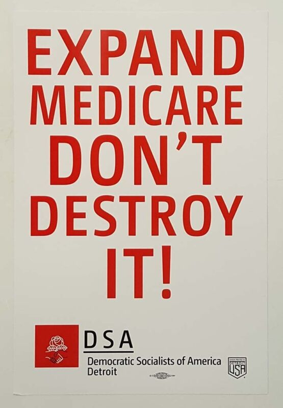 Democratic Socialists of America Expand Medicare Poster