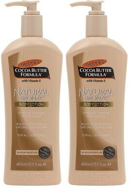 Palmer`s Natural Bronze Body Lotion With Cocoa Butter 400ml 2 Pack Moisturizing - Natural Bronze Body Lotion