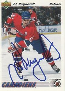 J-J-DAIGNEAULT-SIGNED-1991-92-UPPERDECK-170-MONTREAL-CANADIENS