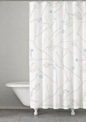 Kassatex Fine Linens Shower Curtain POP-115-BGR Poppy Shower Blue/Gray