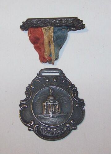 c1914 ANTIQUE PENNSYLVANIA STATE MEMORIAL GETTYSBURG BATTLEFIELD MEDAL BADGE