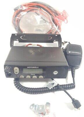 Motorola Pm400 Vhf 64ch 45w Ltr Mobile Radio W Accessories