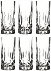 RCR OPERA CRYSTAL GLASS - HIGHBALL TUMBLERS 35cl (BOX OF 6) - NEW