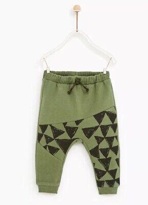 New Zara Baby Boy Seamed Triangle Geometric Trousers Joggers Pants 12-18m comprar usado  Enviando para Brazil