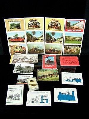 Sammlung alter DDR Eisenbahn Ansichtskarten Sammelbilder Lokomotiven Loks