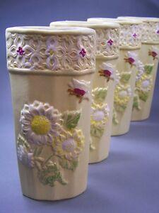 4 sch ne luftbefeuchter keramik blumenrelief verdunster. Black Bedroom Furniture Sets. Home Design Ideas