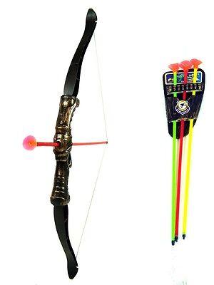 XL Indianer Spielzeug Armbrust Pfeil und Bogen 48 cm mit Pfeilhalter Flitzebogen (Spielzeug Pfeil Und Bogen)