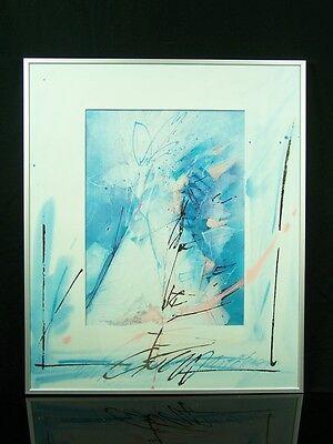 8 Randolff Alurahmen Plakatrahmen mit hochwertigen abstrakten Kunstdrucken 62x52