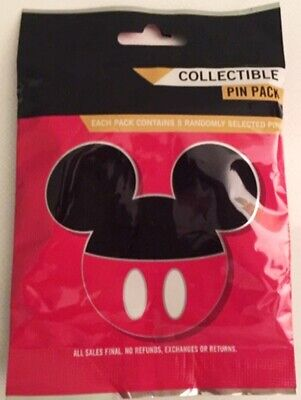 NEW DISNEY MICKEY ICON CHARACTERS COLLECTIBLE MYSTERY 5 PIN PACK  Disney Collection Mickey Icon