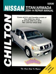 SHOP MANUAL TITAN SERVICE ARMADA REPAIR CHILTON NISSAN BOOK HAYNES