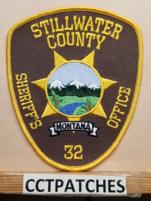 STILLWATER COUNTY, MONTANA SHERIFF BROWN (POLICE) SHOULDER PATCH MT
