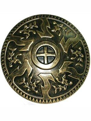 Gold Roman Centurium Gladiator Plastic Round Shield Knight Armor Accessory - Roman Round Shield