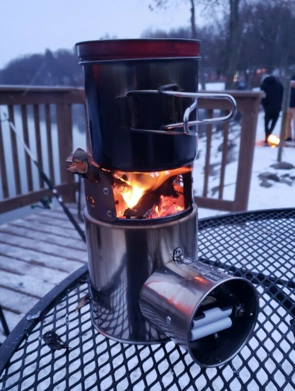 """Camping Stove in case of Emergency time. """"Airwood BM"""" (similar to Solo )"""