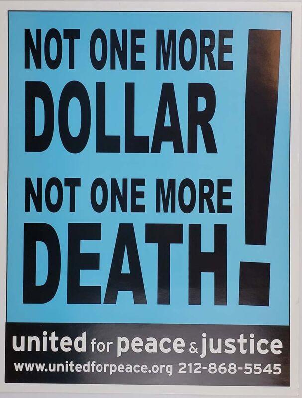 2007 Anti War Movement Large Poster