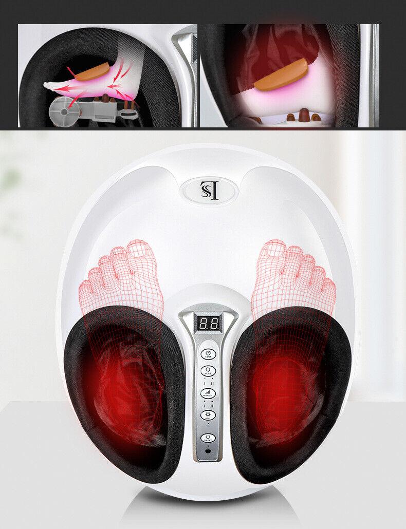 Fußmassagegerät mit Wärmefunktion Shiatsu Elektrisch Kneten Fuß Massagegerät Neu