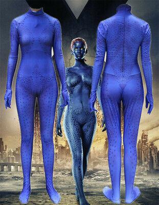 X-Men Mystique Raven Darkholme Jumpsuit Spandex Zentai Halloween Cosplay - Raven X Men Halloween Costume