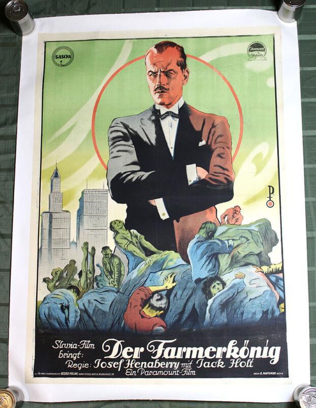 "Making Of A Man (Der Farmerkonig) (USA, 1922) 35"" x 49"" Movie Poster LB"