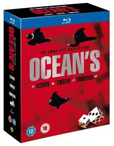 OCEAN'S TRILOGY [Blu-ray 3-Disc Set] Eleven Twelve Thirteen Complete 11 12 13