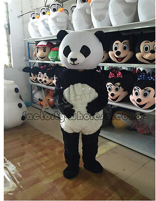 Halloween Professional Costumes (2018 New Adult Size Halloween Professional Panda Bear Mascot Costume Fancy)