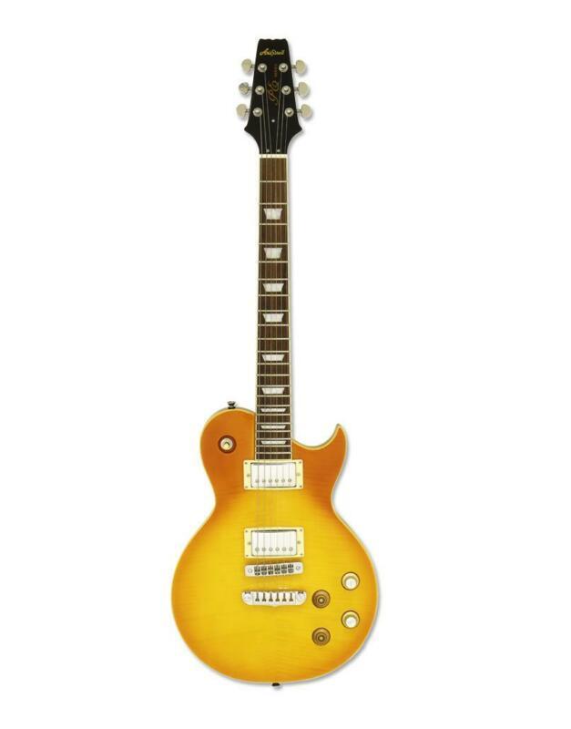 Aria PE 350PG AGLD Solid Body Electric Guitar  Aged Lemon Drop