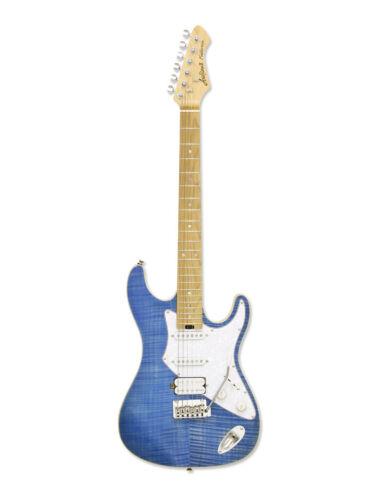 Aria 714 MK2 Fullerton Electric Guitar Turquoise Blue