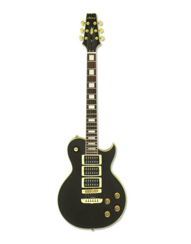 Aria PE 350PF  AGBK Solid Body Electric Guitar Aged Black