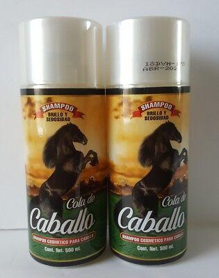 2X SHAMPOO COLA DE CABALLO BRILLO Y SEDOSIDAD/ SHAMPOO TAIL OF HORSE 500 ml each