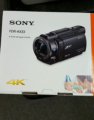 Sony FDR-AX33 4K HD Video Recording Handycam Camcorder New