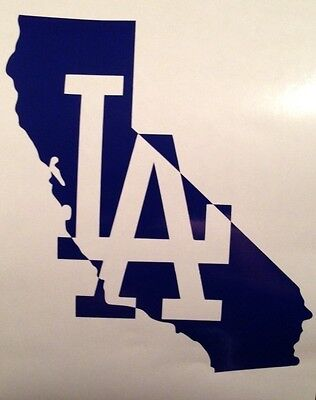 "Los Angeles LA Dodgers MLB World Series Yeti Cup Mug 3"" Vinyl Decal Sticker"