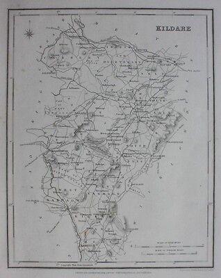 Original antique county map IRELAND, KILDARE, Lewis, Creighton, Dower, 1837