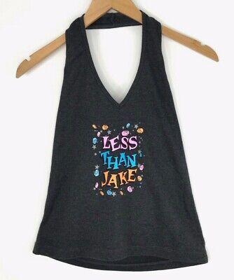 Less Than Jake Pez Sleeveless Halter Top Womens Gray Band Shirt Medium NWOT