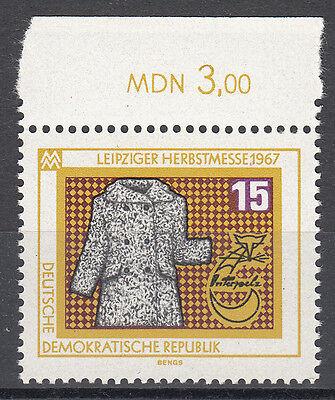 DDR 1967 Mi. Nr. 1307 mit Oberrand Postfrisch (25065)