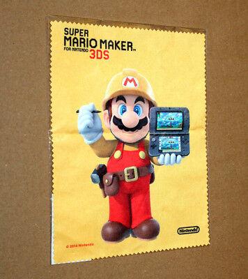 Super Mario Maker Rare Promo Screen Cleaning Cloth Nintendo Europe 3DS Wii U