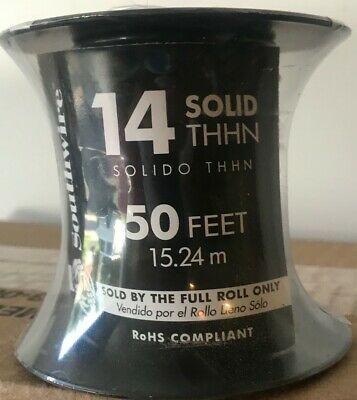 Southwire 50-feet 14-gauge Solid Thhn - New On Roll - Max 600-volts