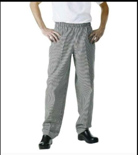 NEW Chef Works NBCP-000 XXS,XS,2XL,4XL,Checkered Baggy Designer Chef Pants