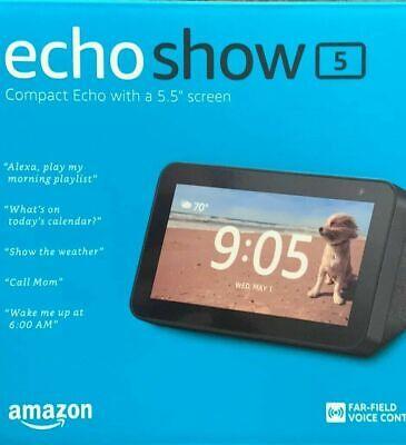 Amazon Echo Show 5 Smart Display with Alexa - Charcoal-Black