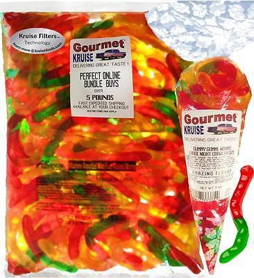 Gummy Worms 5lb Bag With Gummi Worms Fruit Flavor Gourmet Kruise Bag® 11oz ](Gummie Worms)