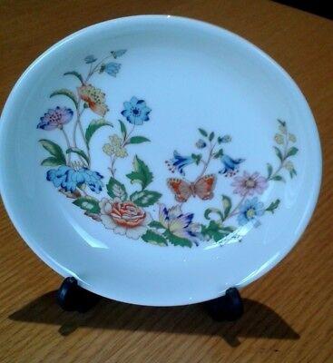 Aynsley Fine English Bone China round trinket plate, Cottage Garden design.