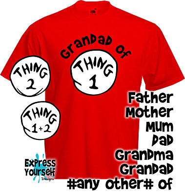 PARENT OF THING ONE - TWO, Mum, Dad, Mother, Father, Grandma, Grandad, Other NEW
